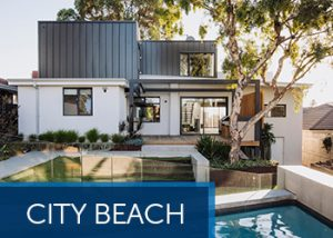city beach contemporary second storey addition