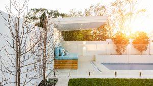designer new home perth - outdoor pool area