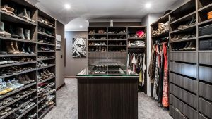 walk-in robe luxury design in Perth