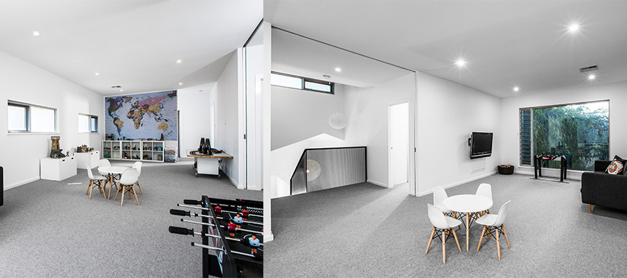second storey addition upstairs playroom cottesloe