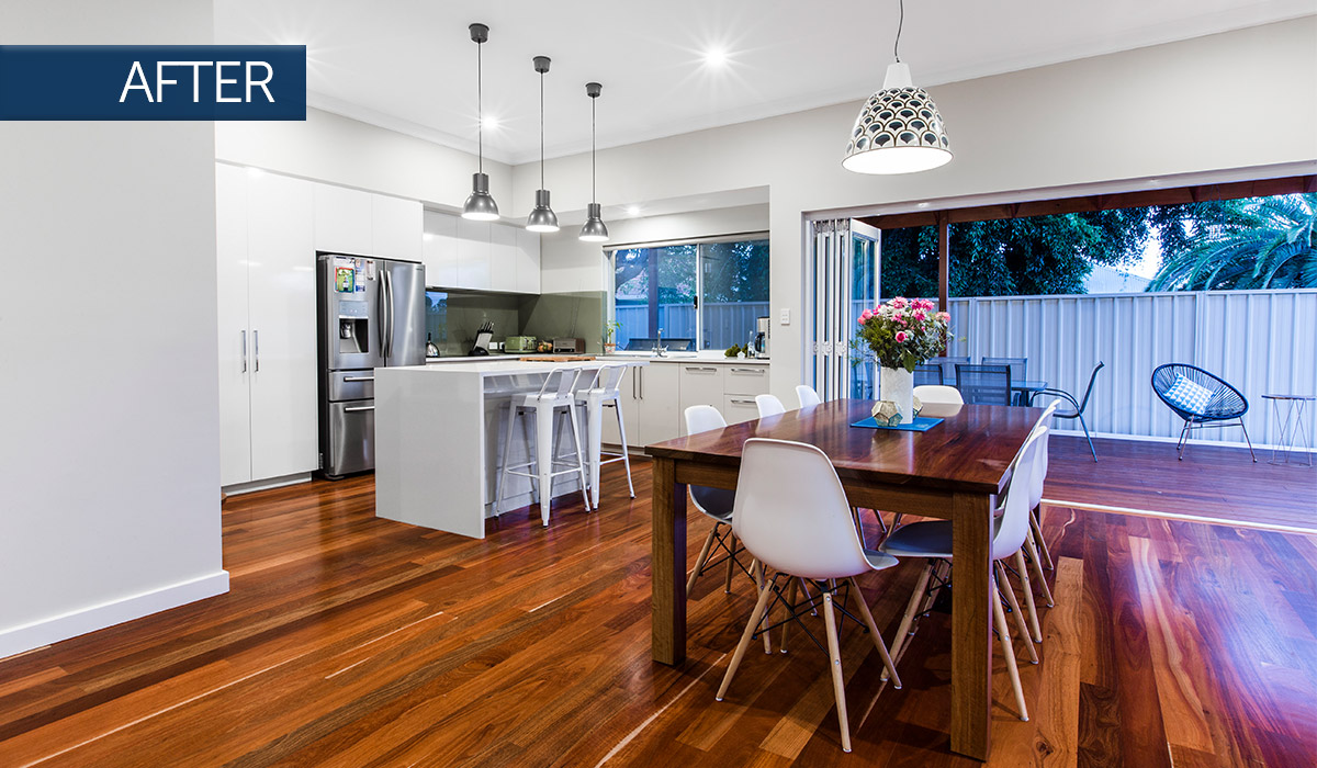 bayswater home renovation living after