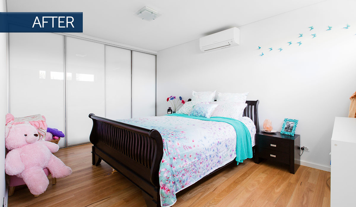 osborne park new custom home bedroom after