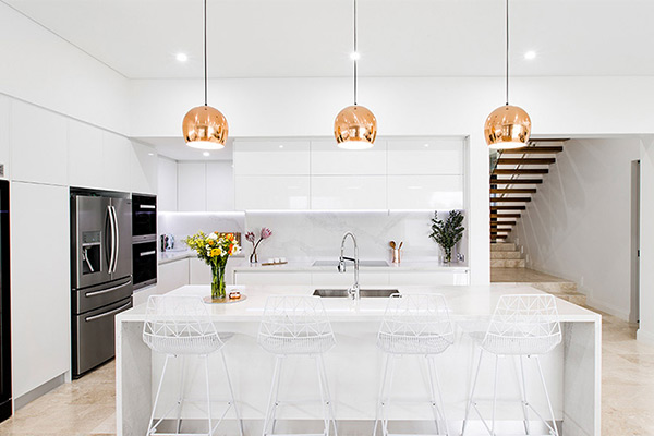 kitchen renovation using functional and stylish pendant lighting