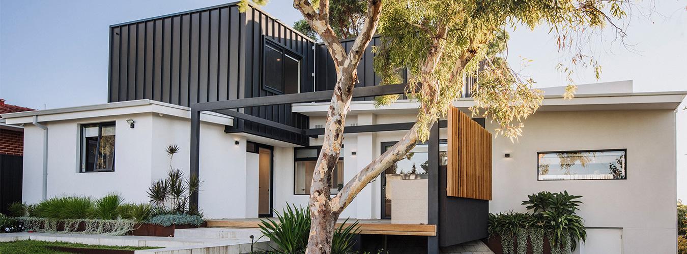 contemporary second storey addition