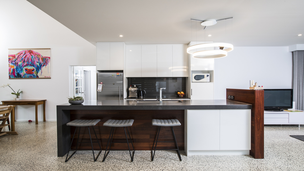 Modern home improvements looking at kitchen